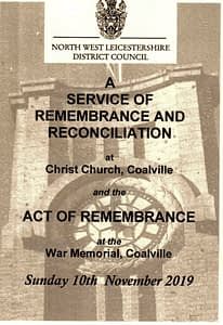Read more about the article Coalville, Leicestershire Remembrance Service