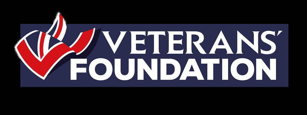Navy Banner showing the Veterans' Foundation logo alongside the Union Jack flag